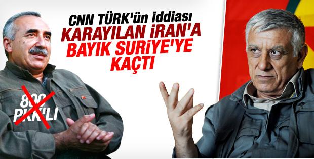 Murat Karayılan ve Cemil Bayık kaçtı iddiası