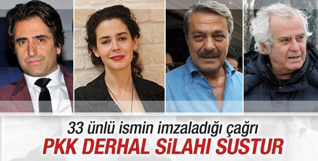33 ünlü isimden PKK'ya ateşkes çağrısı