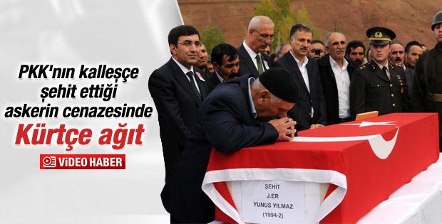 Şehit asker Kürtçe ağıtlarla toprağa verildi İZLE
