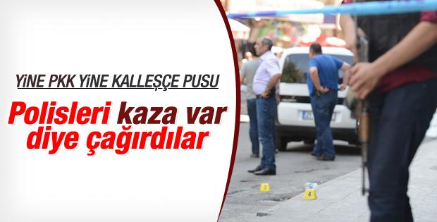 PKK trafik polislerine pusu kurdu