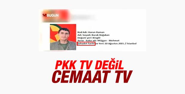 Cemaat kanalında PKK'lılar için şehit tanımlaması