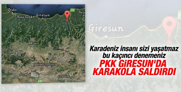 PKK'lılar Giresun'da karakola ateş açtı