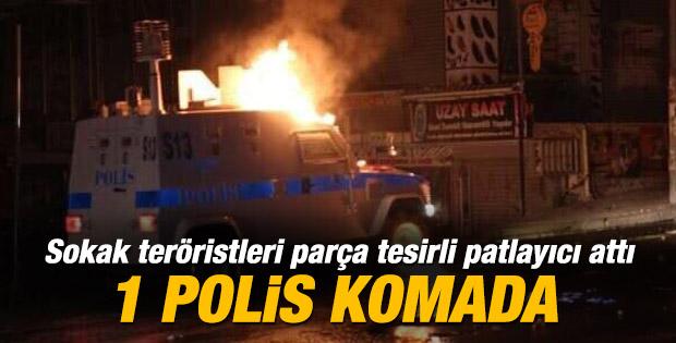 Okmeydanı'nda polise patlayıcı attılar: 9 yaralı