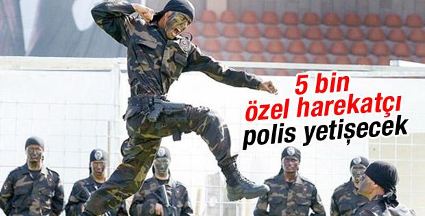 Polis Akademisi 5 bin özel harekatçı yetiştirecek
