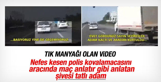 E-5'teki polis takibini meraklı vatandaş videoya çekti İZLE