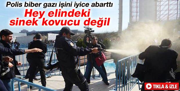 İstanbul'da düzenlenen Baraj ve HES Fuarı'nda arbede - izle