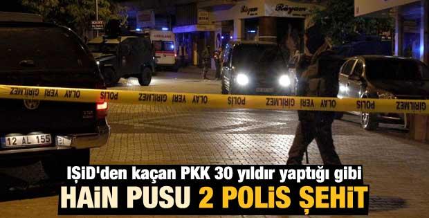 Bingöl'de polislere silahlı saldırı: 2 polis şehit oldu