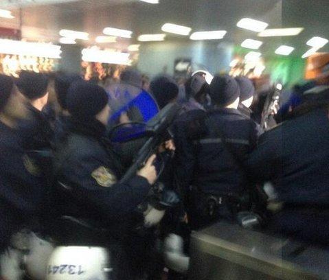 Ankara metrosunda polis müdahalesi