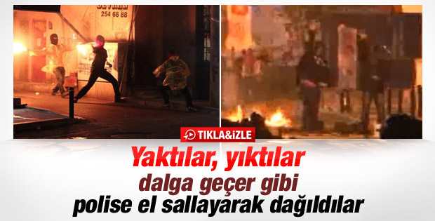 Eylemciler polise el sallayarak dağıldı-İzle