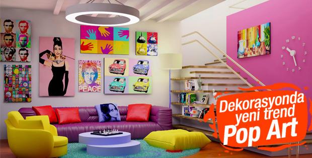 Dekorasyonda pop art akımı