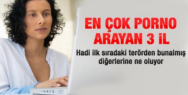 Türkiye'nin en çok porno arayan 3 ili