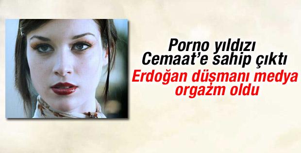 Porno yıldızından Erdoğan'a eleştiri Cemaat'e destek