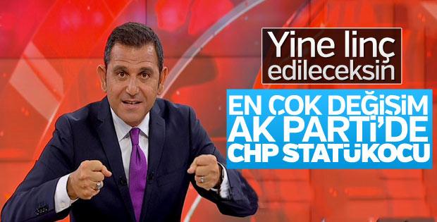 Fatih Portakal: CHP statükocu