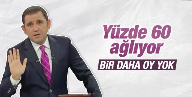 Fatih Portakal bir daha oy yok dedi