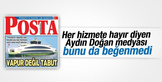 Doğan Medya İstanbul'un yeni vapurlarını beğenmedi