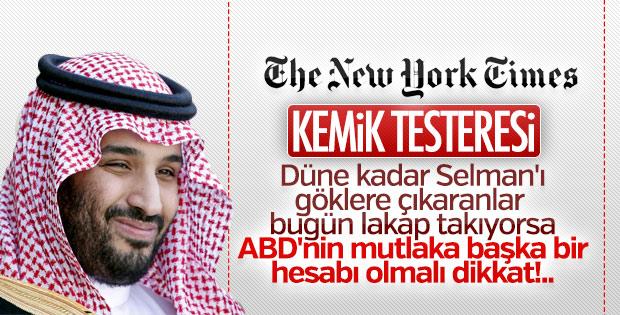ABD basını Prens'e lakap taktı: Kemik Testeresi