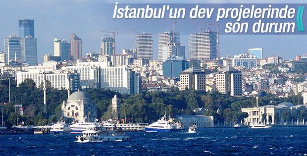 İstanbul'un dev projeleri ilerliyor