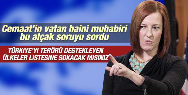 Amerikan sözcüye Türkiye terör listesinde mi sorusu