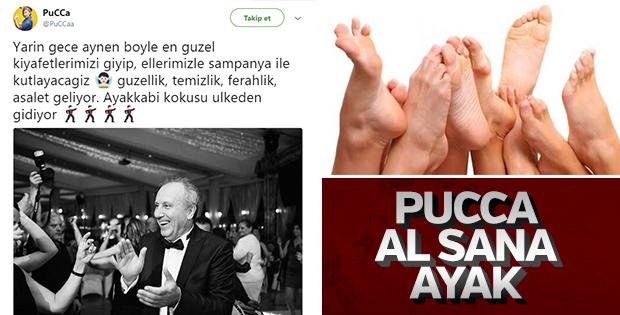 Pucca'ya cevap olarak gönderilen ayaklar