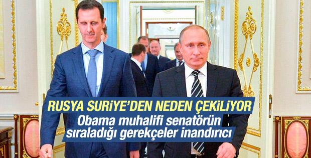 Obama'ya muhalif senatörden Putin neden çekiliyor analizi