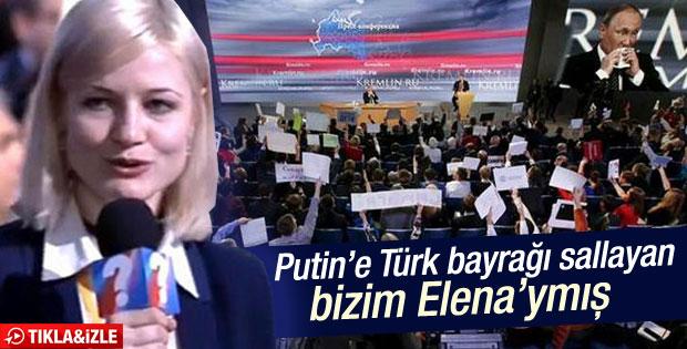 Putin'e Türk bayrağı sallayan kişi AA muhabiri çıktı