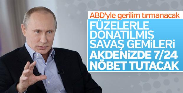 Putin: Rus savaş gemileri Akdeniz'de 7/24 nöbette olacak