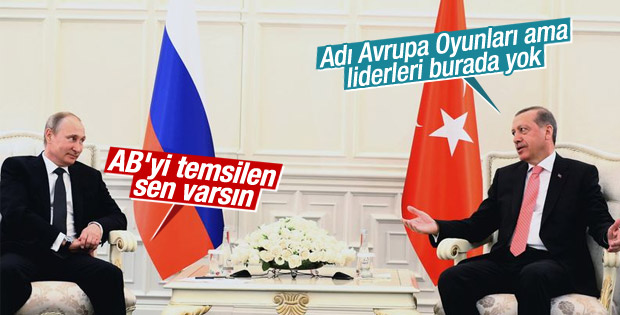 Erdoğan ve Putin Bakü'de buluştu