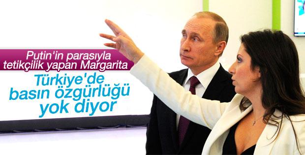 Putin'in genel yayın yönetmeni Türkiye'de sansür var diyor