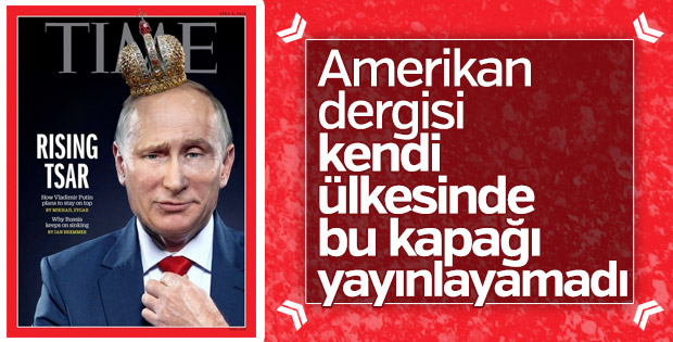 Putin Time dergisine taçla kapak oldu