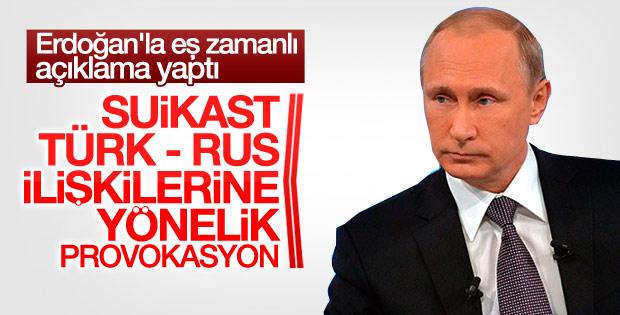 Suikast sonrası Putin'den ilk açıklama