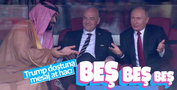 Putin'le Selman, Rusya maçını birlikte izledi