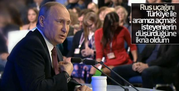 Putin: Uçağın düşürülmesi ile ilgili fikrim değişti
