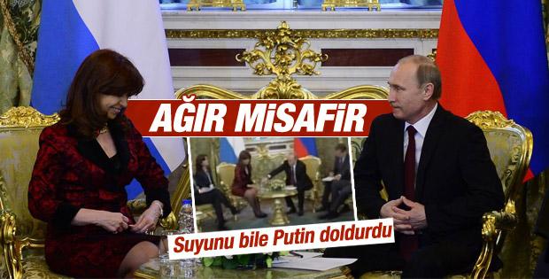 Putin Cristina Fernandez ile buluştu