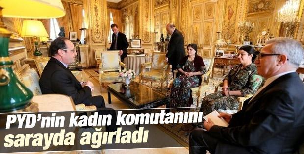 Hollande PKK'yı Elysee Sarayı'nda ağırladı