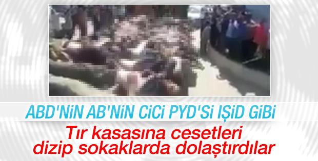 PYD/PKK'dan Afrin sokaklarında vahşet