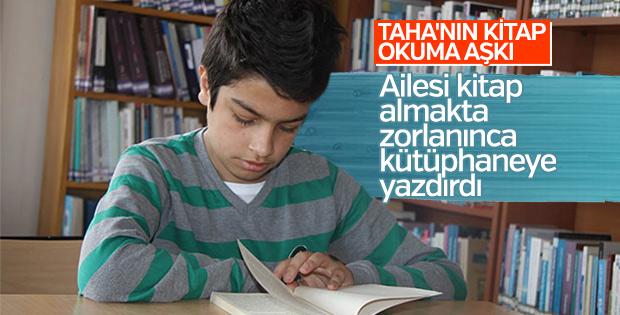 11 yaşındaki Taha'ya kitap dayanmıyor