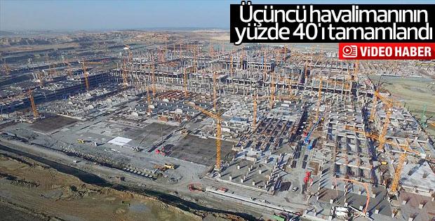 İstanbul'un yeni havalimanının yüzde 40'ı tamamlandı