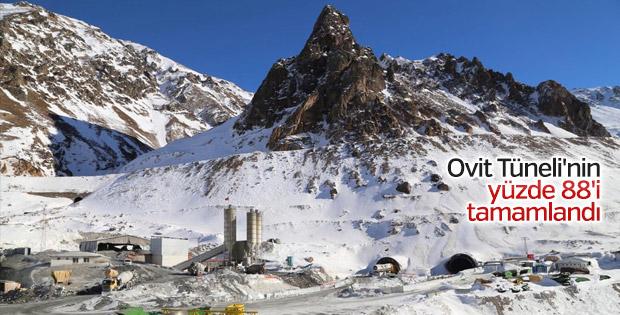 Ovit Tüneli'nin yüzde 88'i tamamlandı