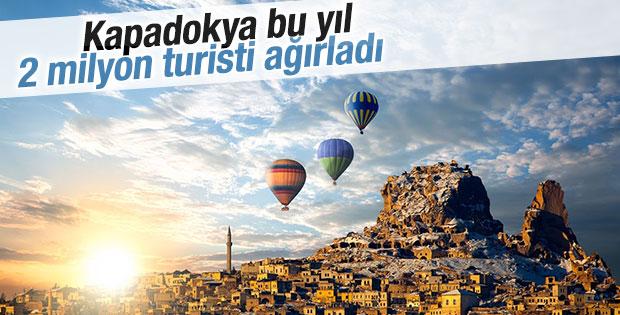 Kapadokya'ya 9 ayda 2 milyon turistin akınına uğradı