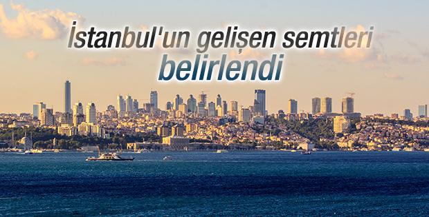 İstanbul'un gelişen semtleri belirlendi