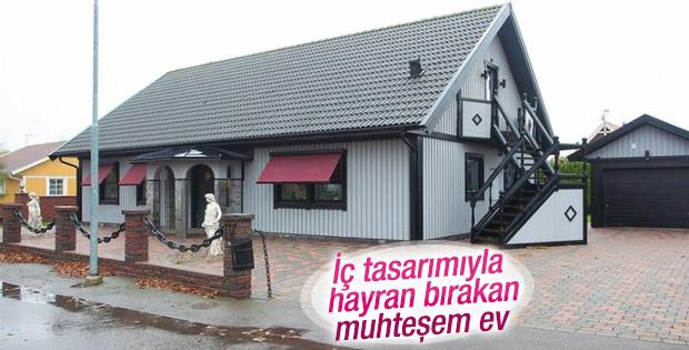 İsveç'te inşa edilen ev iç tasarımıyla büyülüyor