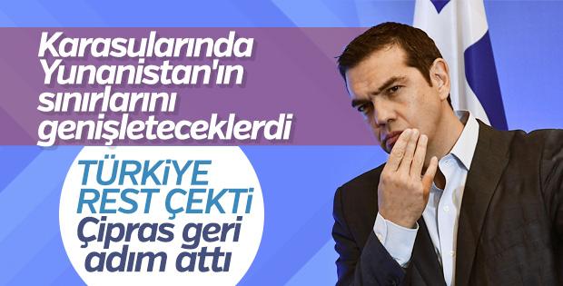 Yunanistan karasularını genişletmekten vazgeçti