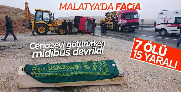 Malatya'da trafik kazası: 7 ölü 15 yaralı
