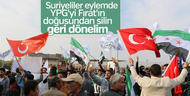 Suriyelilerden Urfa'da YPG protestosu