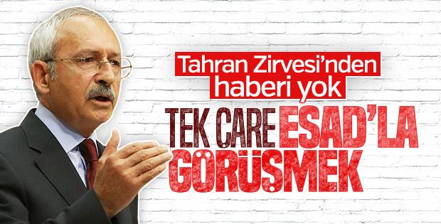 Kemal Kılıçdaroğlu, Esad ile görüşmekten yana