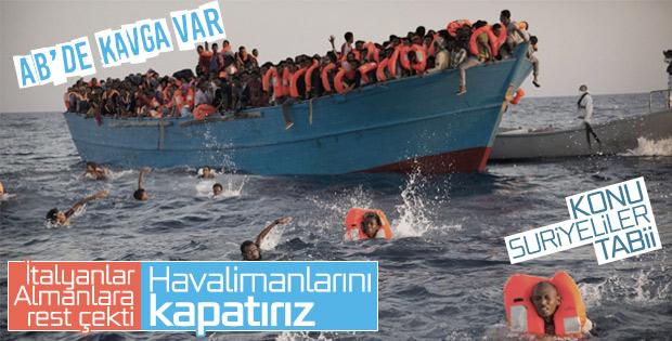 İtalyan'dan Almanya'ya göçmen tehdidi
