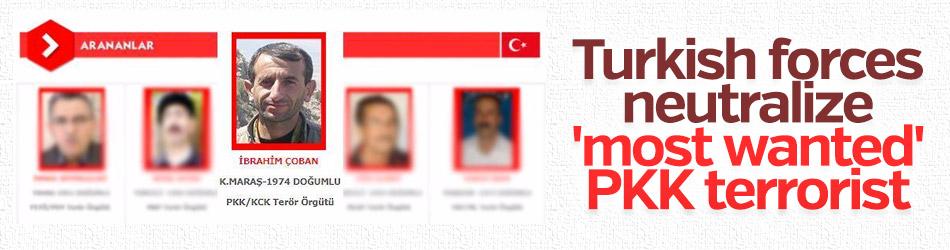 Turkish forces neutralize 'most wanted' PKK terrorist