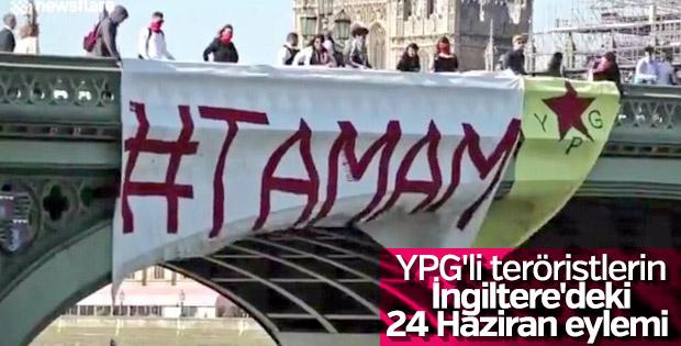 Terörist PKK Londra'da seçim protestosu yaptı