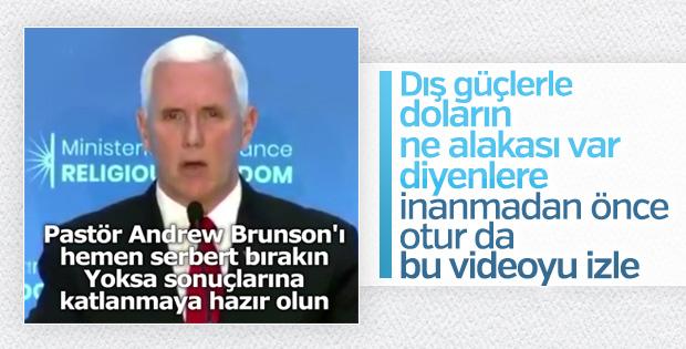 Mike Pence'den Brunson tehdidi