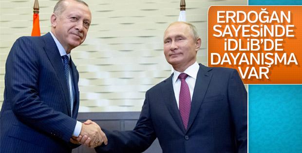 Putin: Türkiye ile İdlib'de dayanışma içindeyiz